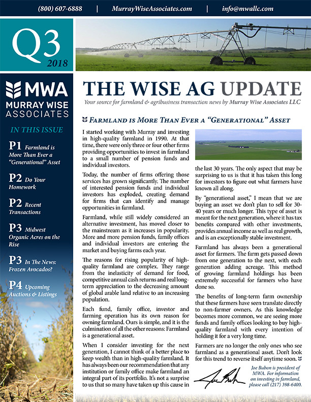 MWA Newsletter Third Quarter 2018