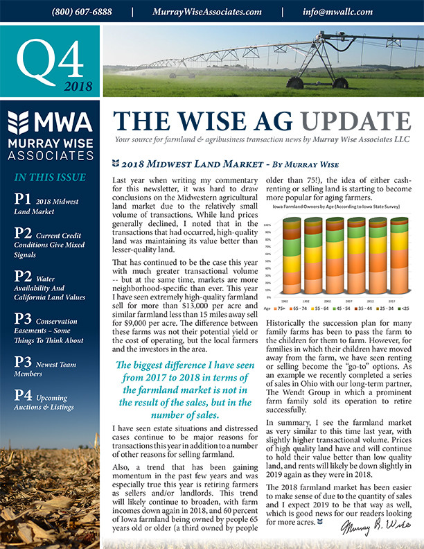 MWA Newsletter Fourth Quarter 2018