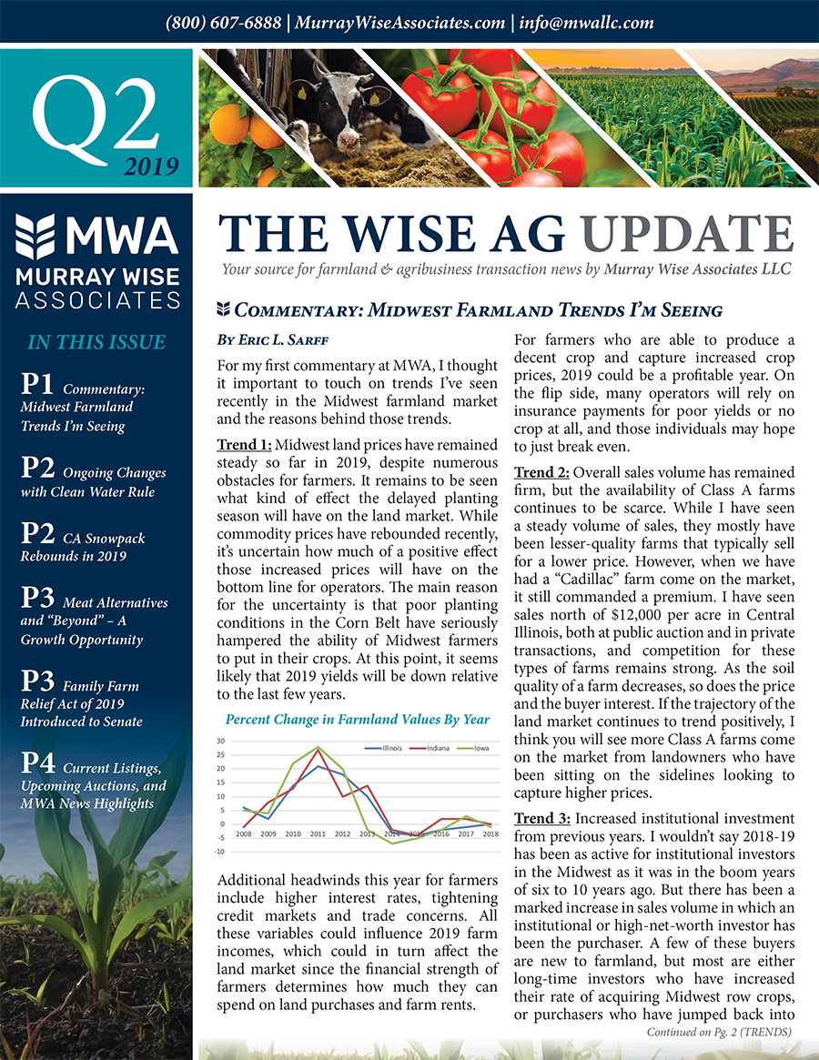 MWA Newsletter Second Quarter 2019