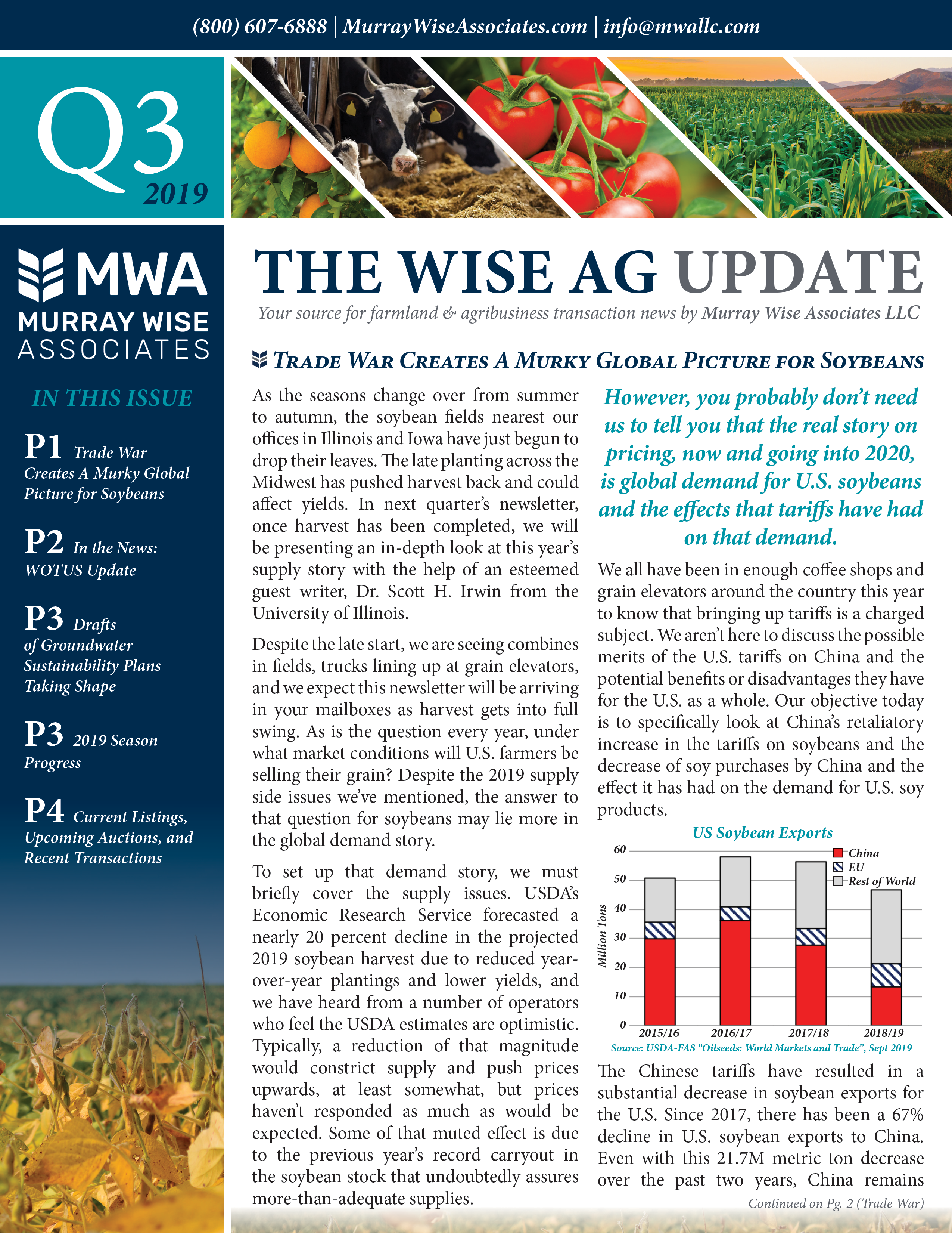 MWA Newsletter Third Quarter 2019