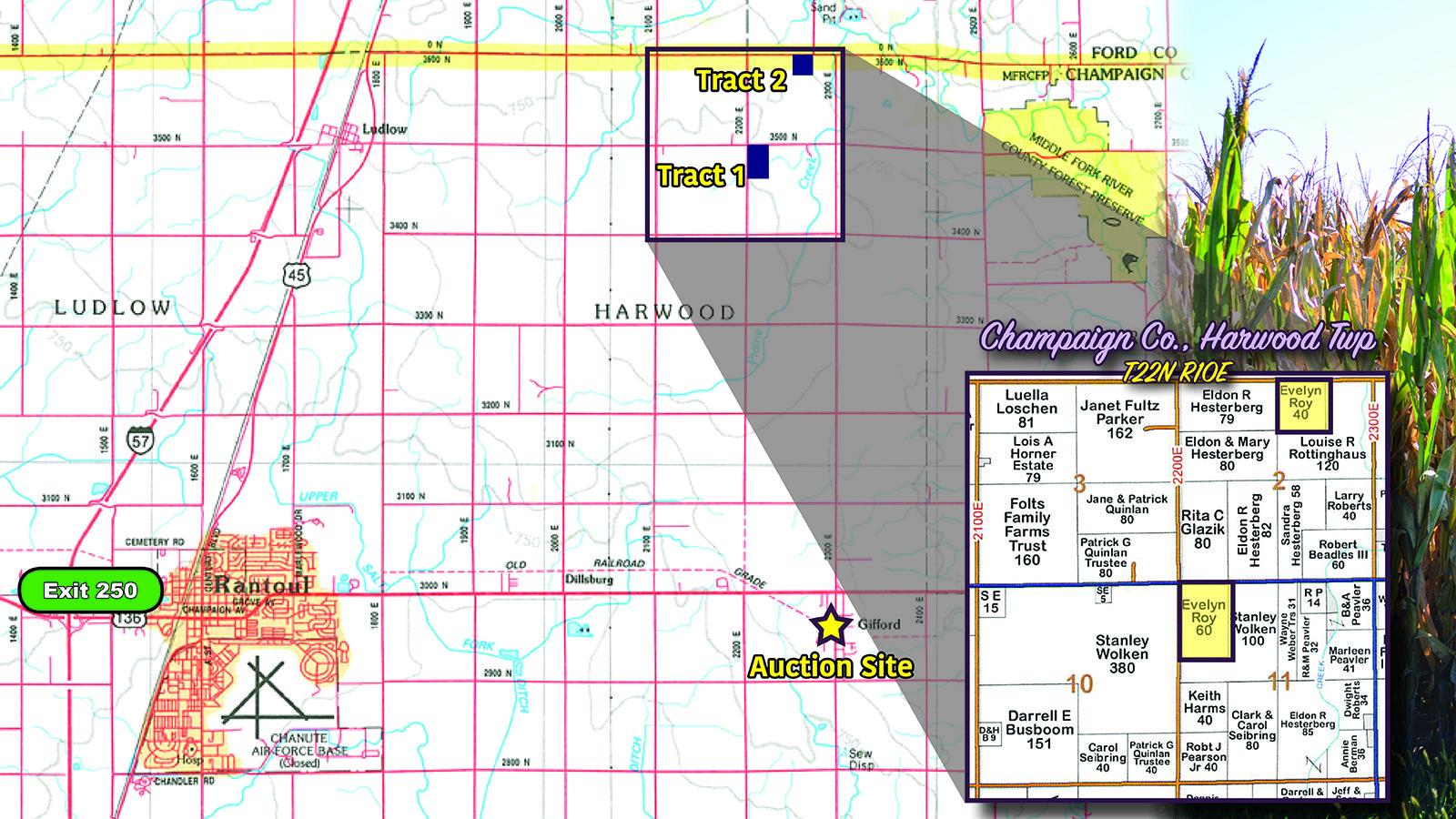 Location - MWA Auctions & Real Estate | Champaign Co Farmland Auction 100 Ac - Dec 3 2019