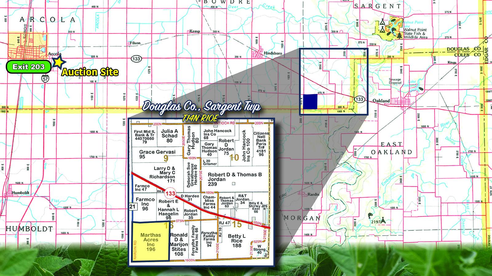 Location - MWA Auctions & Real Estate | Douglas Co Farmland Auction 196 Ac - Dec 4 2019