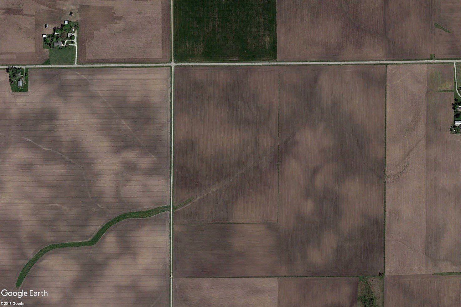Tract 1 Aerial Map - MWA Auctions & Real Estate | Champaign Co Farmland Auction 100 Ac - Dec 3 2019