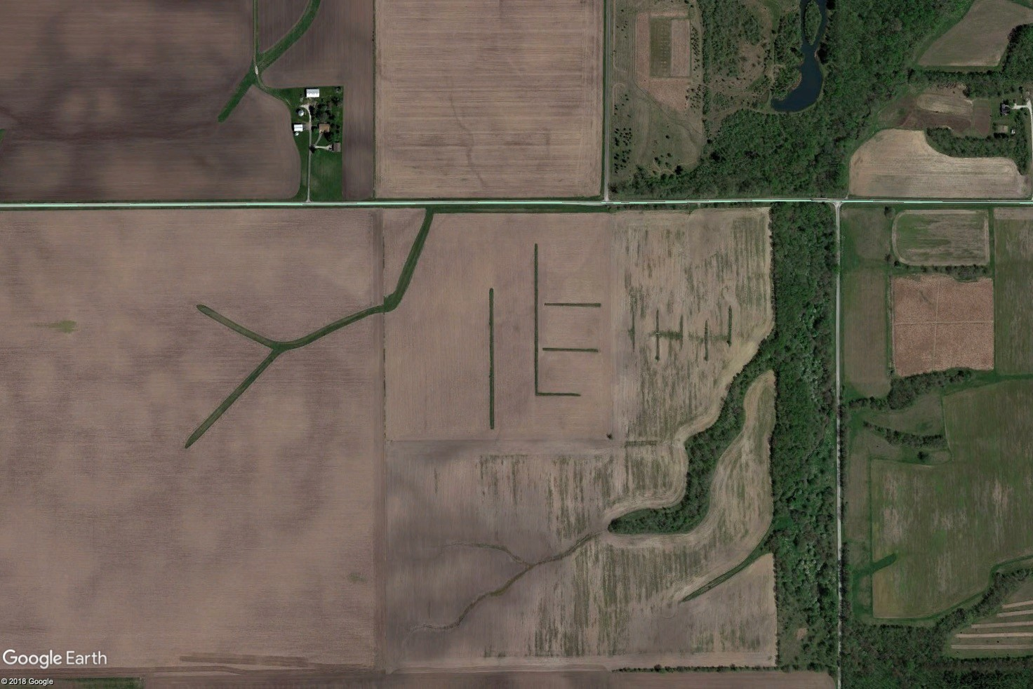 Tract 2 Aerial Map - MWA Auctions & Real Estate | Champaign Co Farmland Auction 100 Ac - Dec 3 2019
