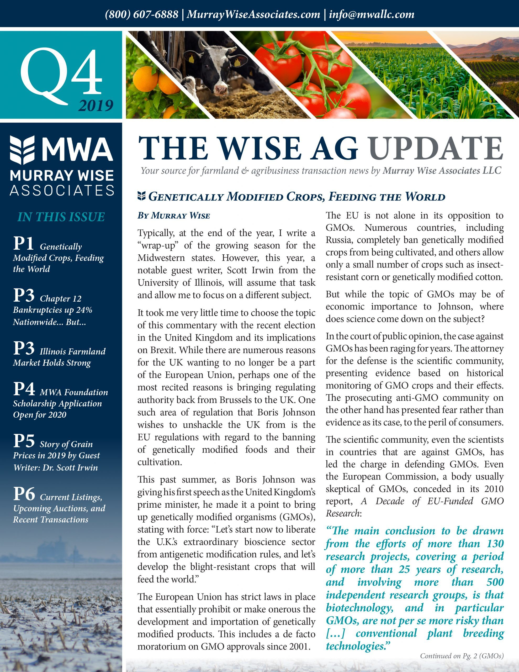 MWA Newsletter Forth Quarter 2019
