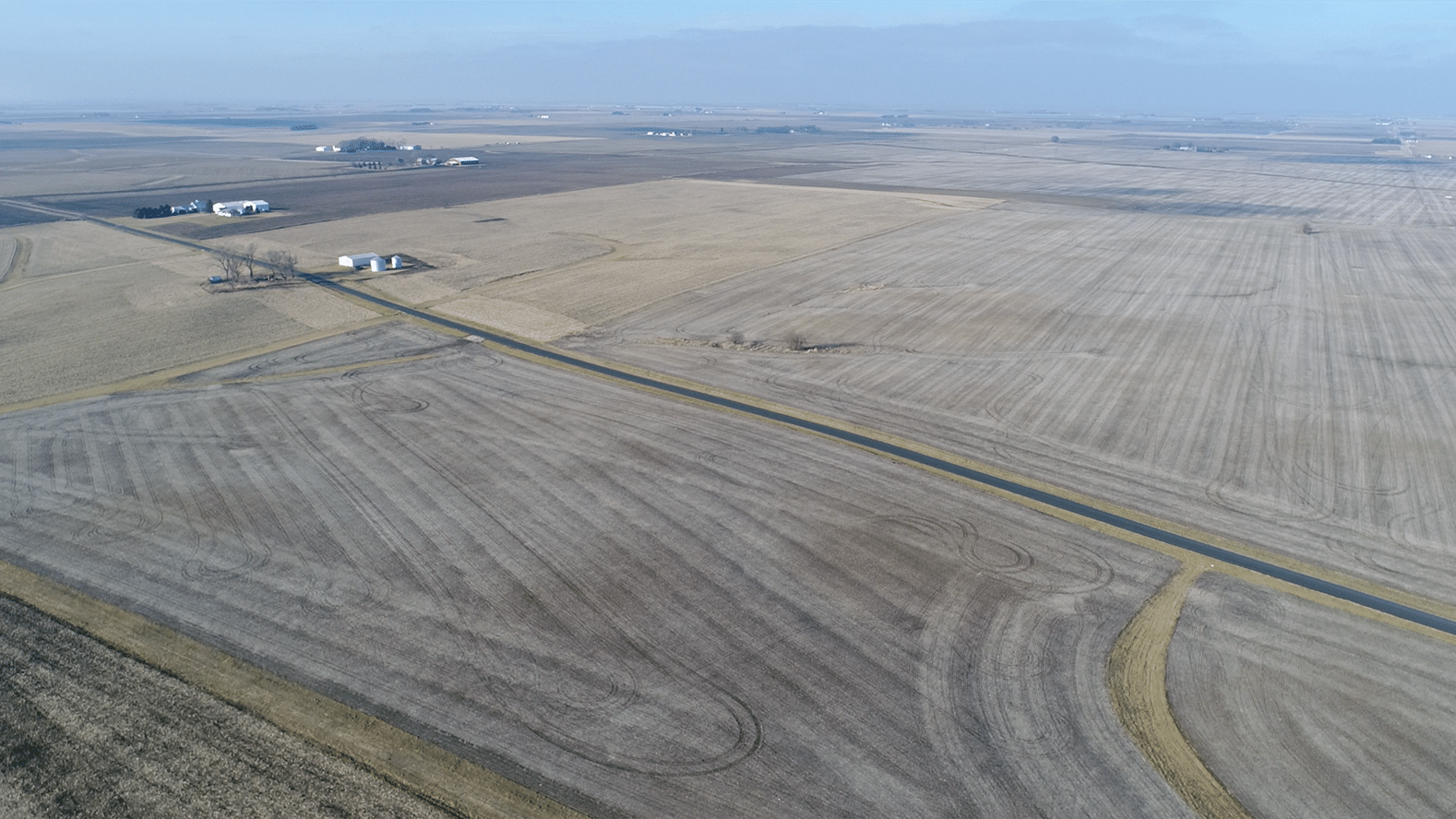 Champaign Co Auction 208 Ac - Feb 18 2020 - Looking Northwest