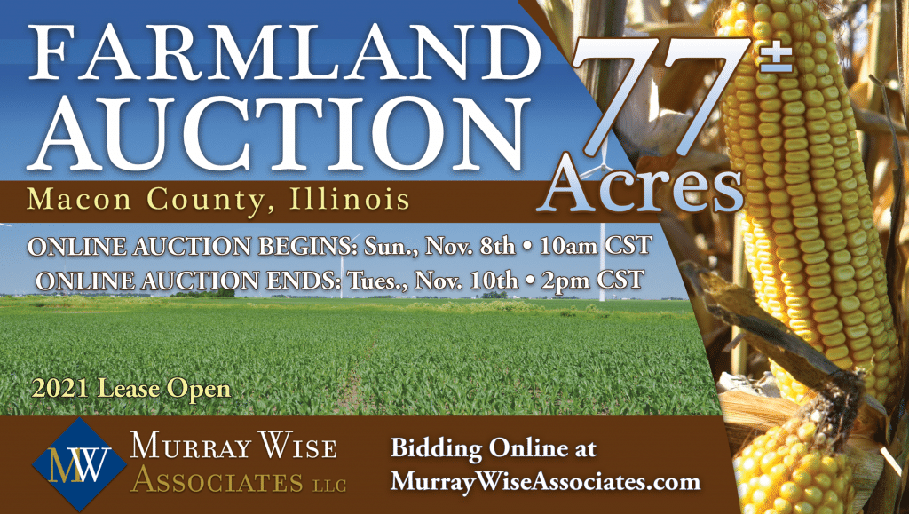 Upcoming AuctionMacon County, IL 77± Acres