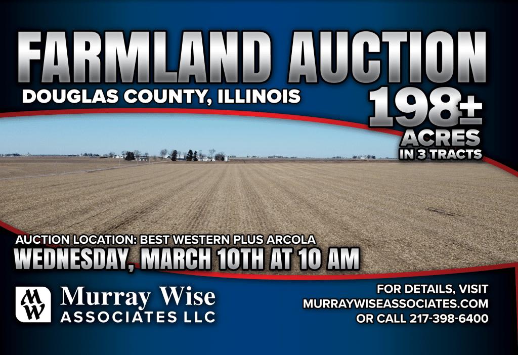 Upcoming AuctionDouglas County, IL - 198± Acres