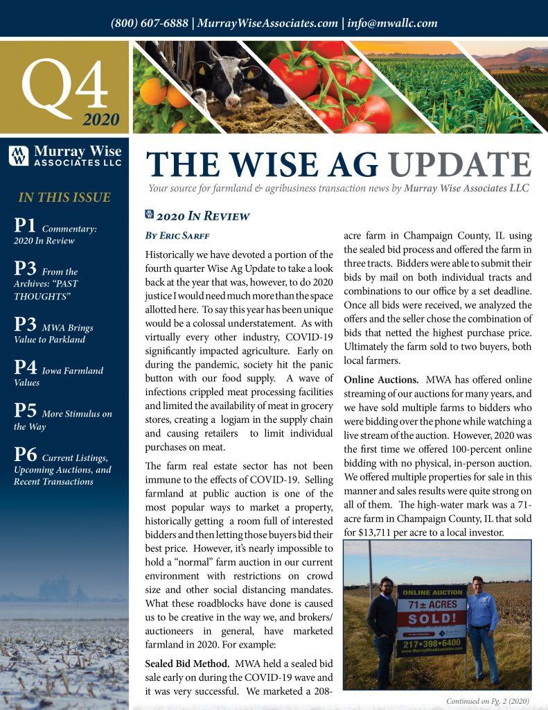 MWA Newsletter Fourth Quarter 2020