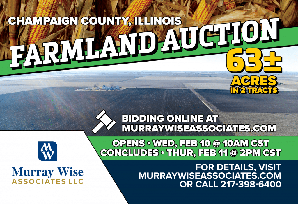 Upcoming AuctionChampaign County, IL - 63± Acres