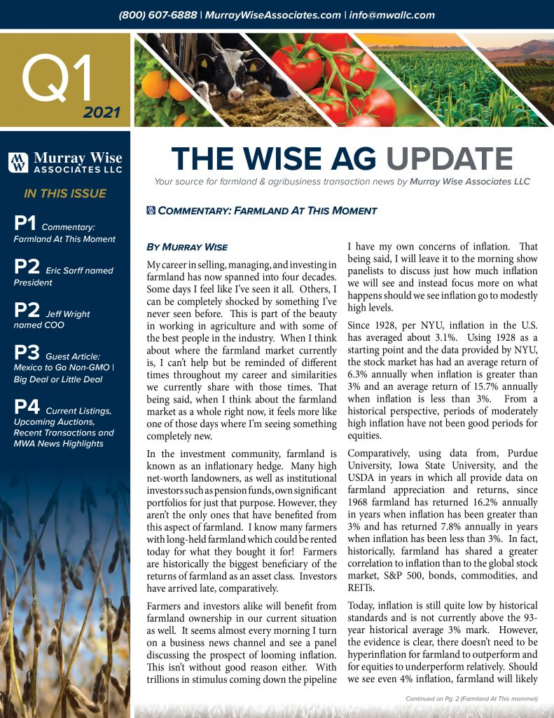 MWA Newsletter First Quarter 2021