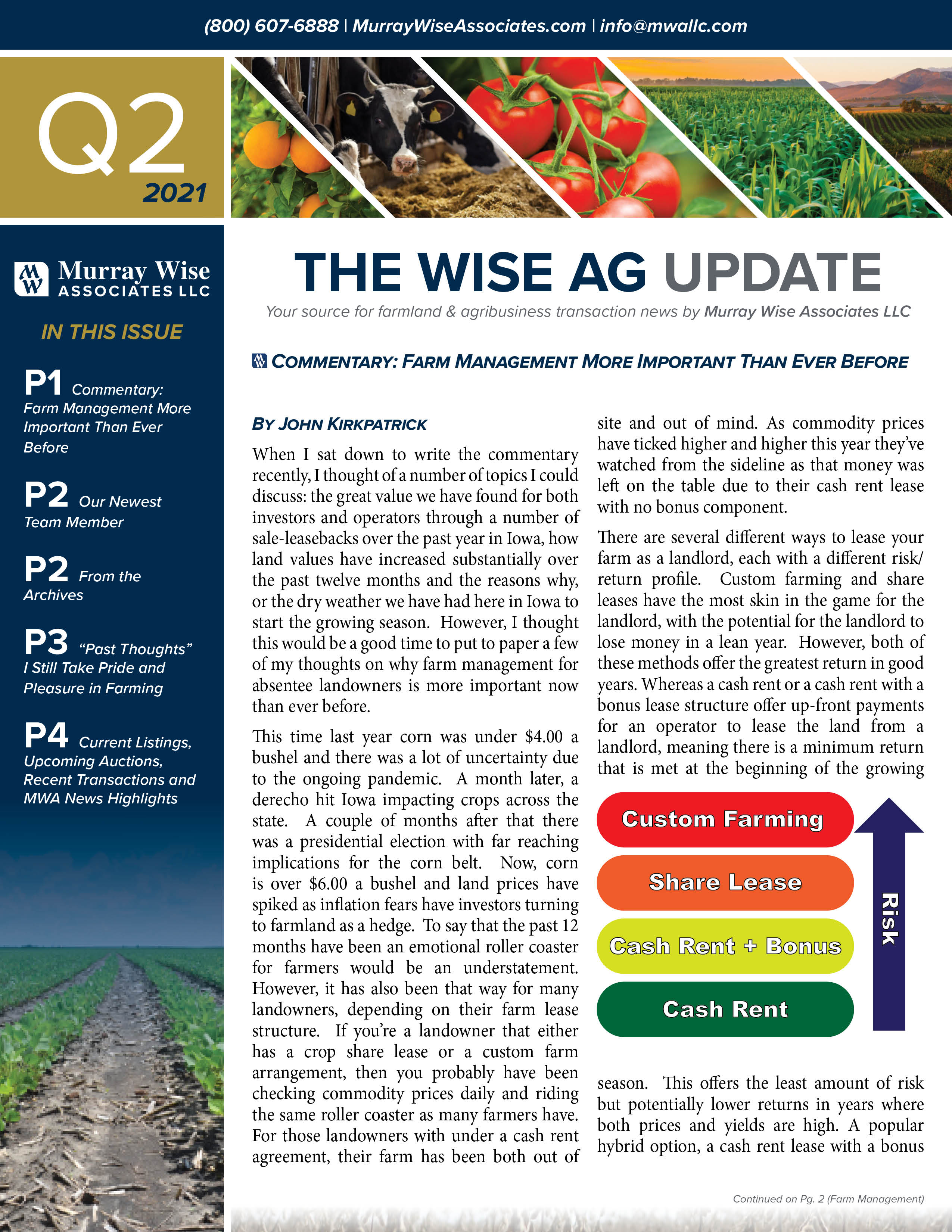 MWA Newsletter Second Quarter 2021