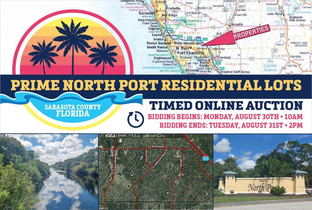 Upcoming AuctionSarasota County, FL - 10 North Port Lots