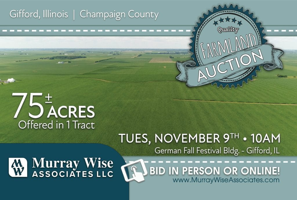 Upcoming AuctionChampaign County, IL - 75± Acres