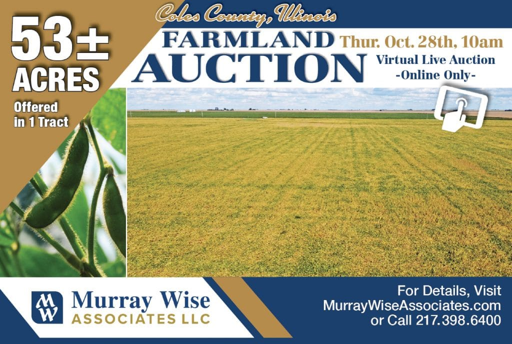 Upcoming AuctionColes County, IL - 53± Acres