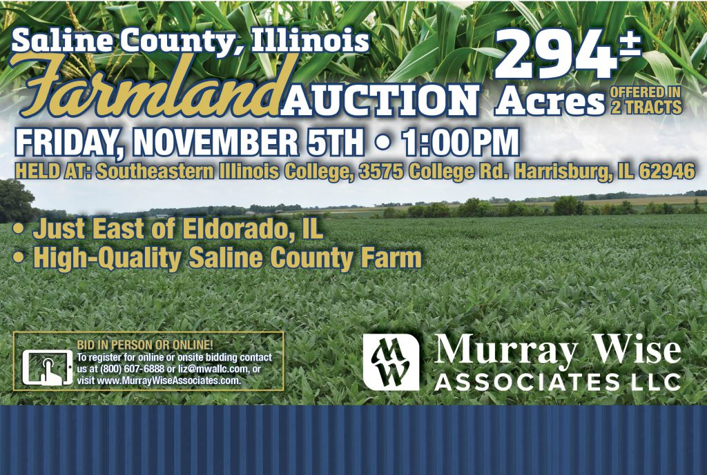 Upcoming AuctionSaline County, IL - 294± Acres