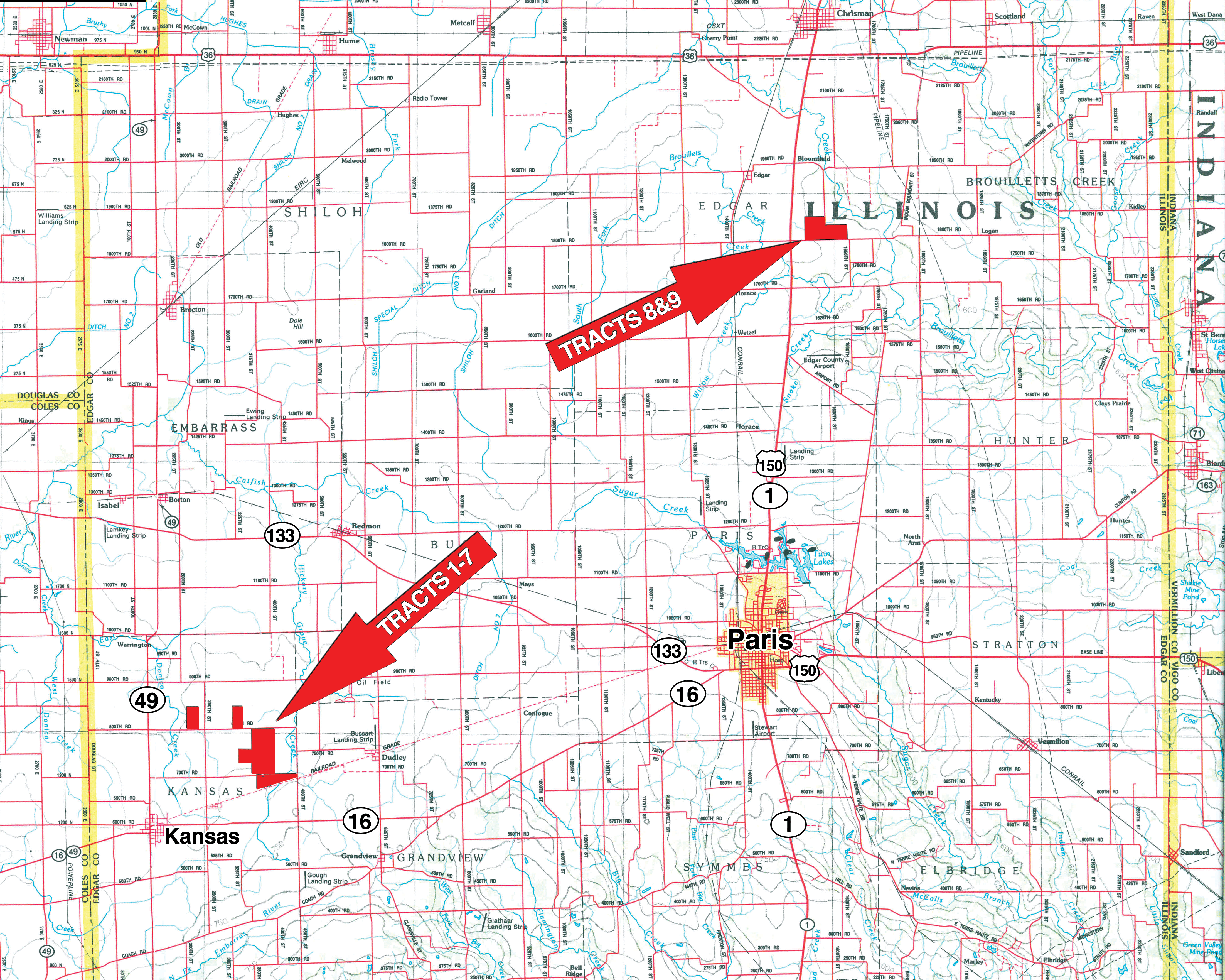Edgar Regional Map