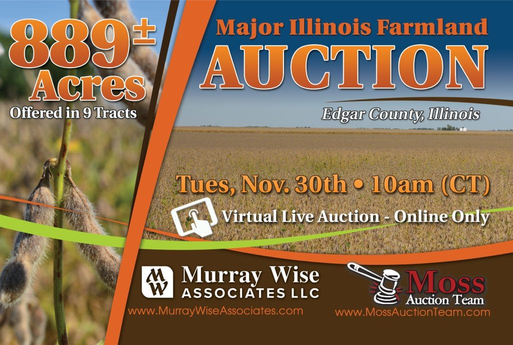 Upcoming AuctionEdgar County, IL - 889± Acres